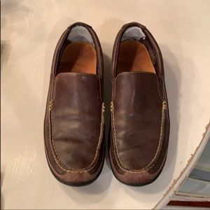 Brown Cole Haan Leather Loafers dress shoes